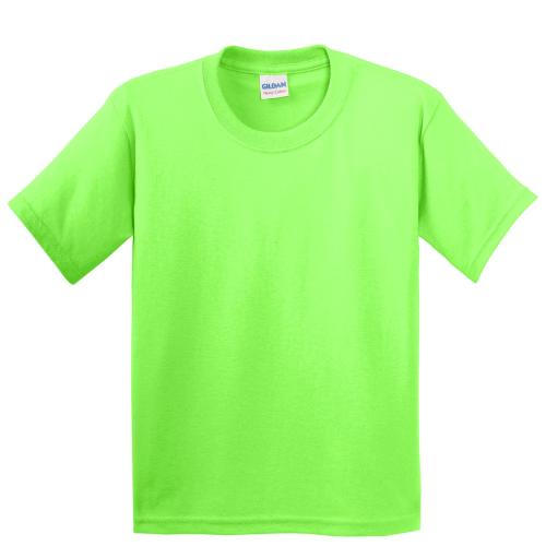 Gildan Youth Heavy Cotton 100 Cotton T Shirt Neon Green