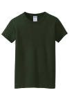 Forest Green Gildan Ladies Heavy Cotton 100% Cotton T-Shirt