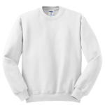 White JERZEES NuBlend Crewneck Sweatshirt
