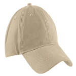 Khaki Port & Company Brushed Twill Low Profile Cap