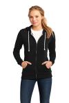Black District Juniors Core Fleece Full-Zip Hoodie DT290