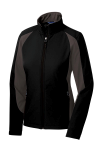 Black Iron Gry Sport-Tek Ladies Colorblock Soft Shell Jacket