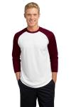 White Maroon Sport-Tek PosiCharge Baseball Jersey