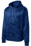 True Royal Sport-Tek Sport-Wick CamoHex Fleece Hooded Pullover