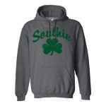 Dark Heather Southie Sham forest Hoodie