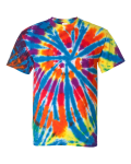 Classic Rainbow Spiral Short Sleeve Rainbow Cut-Spiral T-Shirt