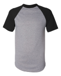 Athletic Heather Black Short Sleeve Baseball Jersey