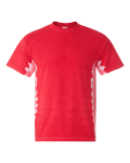 Red Tonal T-Bone Short Sleeve T-Shirt