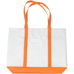 Orange Non-Woven Tote Bag with Trim Colors