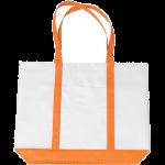 Orange Non-Woven Tote Bag with Trim Colors