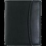 """Black Leather Look 8.5"""" X 11"""" Portfolio"""