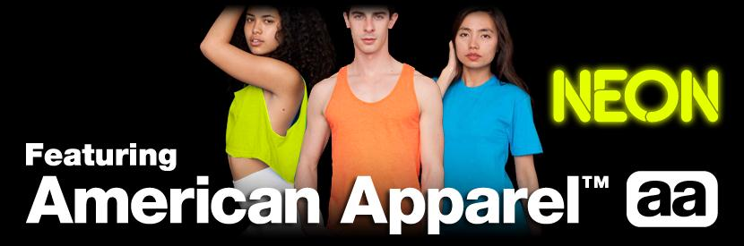american apparel neon tank tops bb408