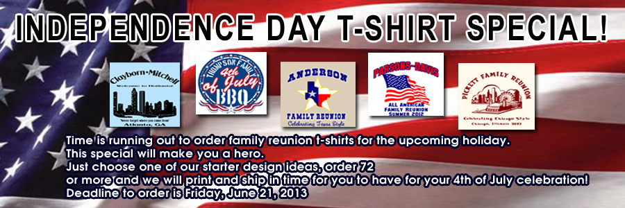INDEPENDENCE DAY T-SHIRT SPECIAL!