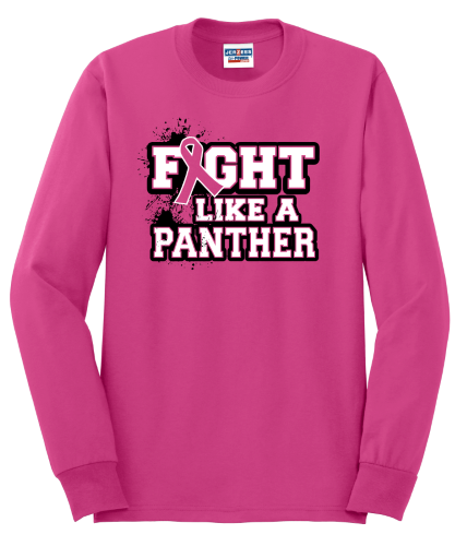 Panthers Care Heavyweight Blend 50/50 Long Sleeve T-Shirt