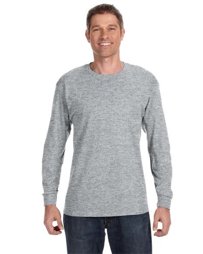 57a30dba342 JERZEES 50 50 Long Sleeve T-Shirt ATHLETIC HEATHER
