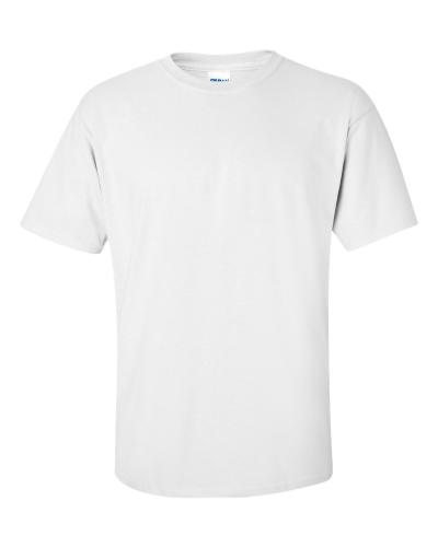 White Ultra Cotton T Shirt By Gildan