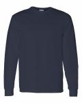 Navy Cotton Long Sleeve T-Shirt
