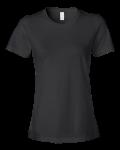Black Ladies Ringspun Fashion Fit T-Shirt