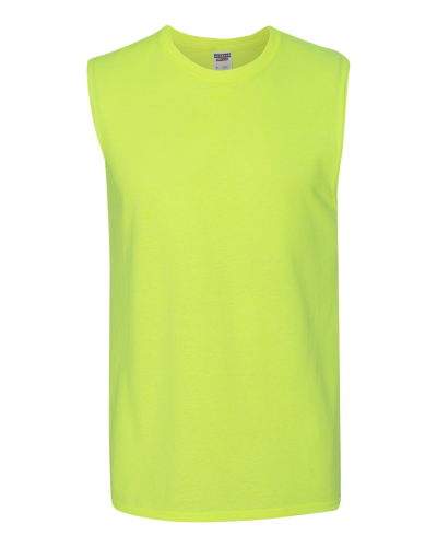 f5a1ab72 Dri-Power Active Sleeveless 50/50 T-Shirt Safety Green