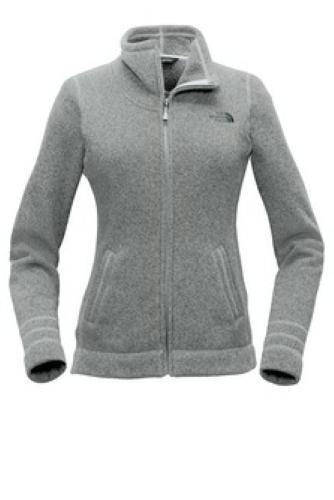 481c7114f The North Face Ladies Sweater Fleece Jacket Medium Heather Grey