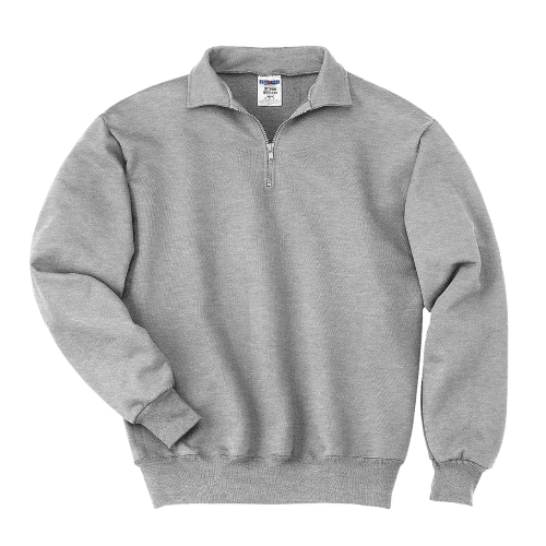ace8af29b Ash JERZEES SUPER SWEATS 1/4-Zip Sweatshirt with Cadet Collar ...