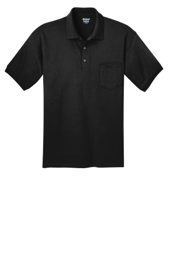 74655bac979 Black Gildan DryBlend 5.6-Ounce Jersey Knit Sport Shirt with Pocket ...