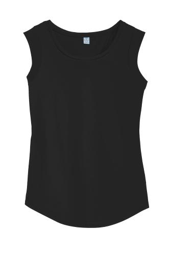 9365ec89 Black Alternative Cap Sleeve Satin Jersey Crew T-Shirt Black