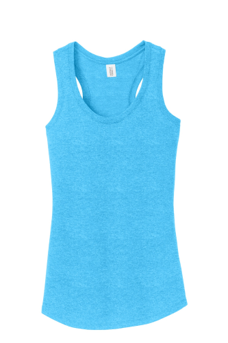 c077370f004b8 District Made Ladies Perfect Tri-Blend Racerback Tank Turquoise Frst