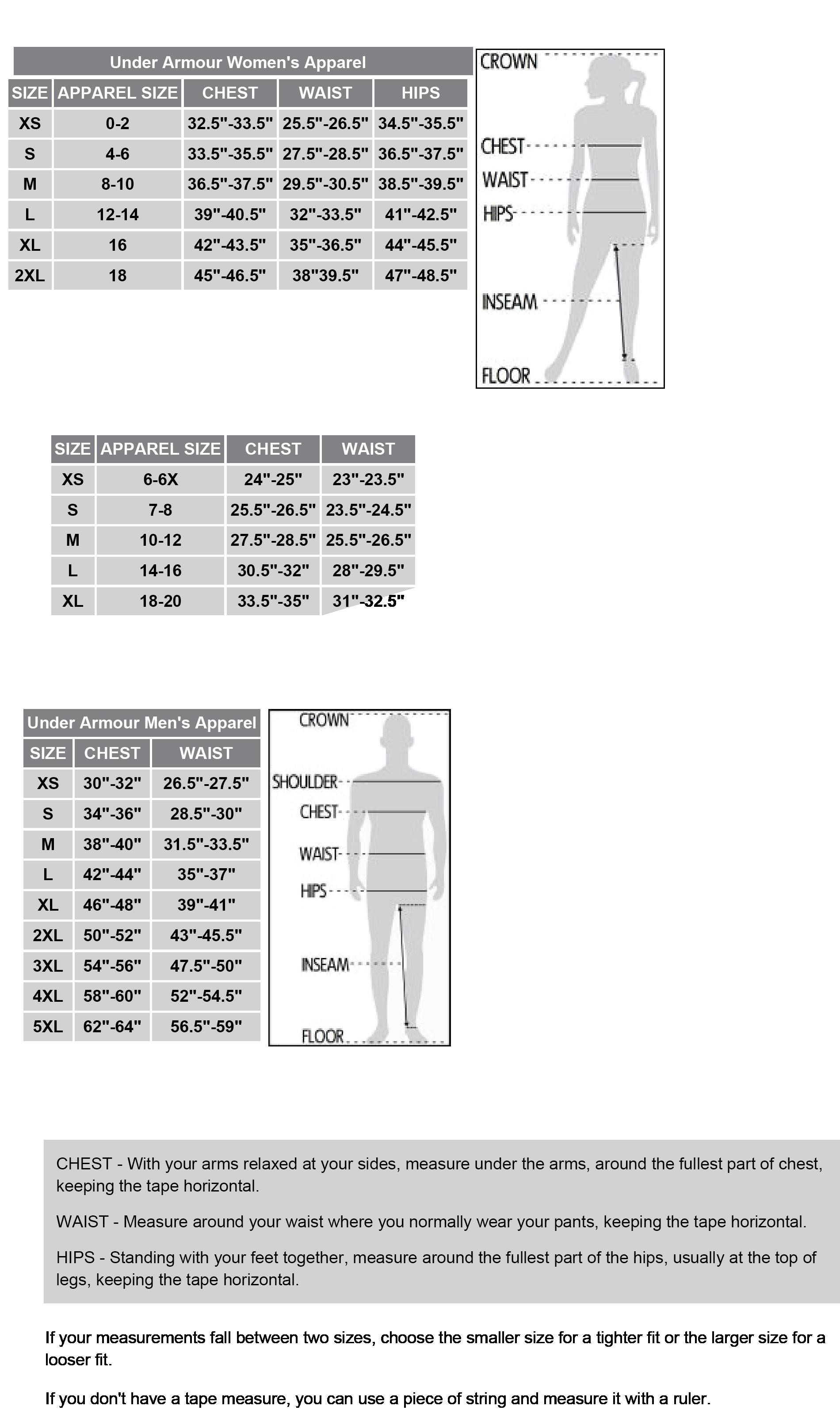 Under Armour Womens Shirt Size Chart Azərbaycan Dillər Universiteti
