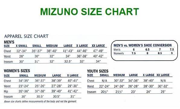 mizuno shoe width size chart 40